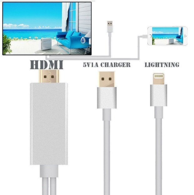 Кабель адаптер MHL HDMI Lightning 8 Pin Digital AV HDTV для iPhone 5 5C 5S SE 6 6S 7 8 10  /  6 6S 7 8 Plus