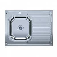 Мойка кухонная нержавейка 60*80-L Decor (без сифона, Накладная, ребристая) 0,6мм. (Asil-UA - Украина)