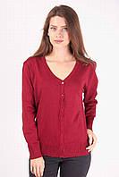 Стильная женская кофточка на пуговичках бордового цвета