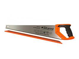 Ножовка по дереву 500 мм средний каленый зуб, 7 з/д, 3D Sturm 2100103
