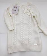 Детский вязаный свитер для девочки на 2 - 5 лет