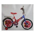 """Велосипед 2х колеса 18"""" сиденья + багажник красно синий девочка мальчик 006-005-1"""