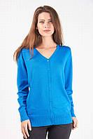 Модная женская кофточка на пуговичках голубого цвета