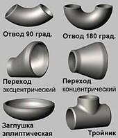 Трійник нерж.перех. ф  88,9х3,2/76,1х2,9 A321 (08H18N10T)