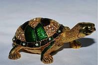 Шкатулка металич. Черепаха 313-10