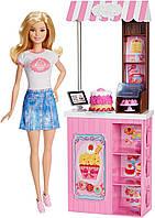 """Набор кукла Барби Блондинка серия """"Кем Быть?"""" Модное кафе Barbie"""