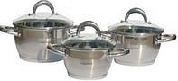 Набор кастрюль индукционных 6 пр. 16 см/18 см/ 20 см Lessner Coni 55861
