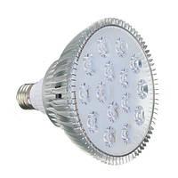 Лампа для растений 15*1W E27, бело-синий спектр