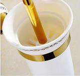 Ершик щетка (вантуз) для унитаза в золоте настенный подвесной, фото 2