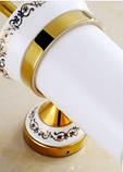 Ершик щетка (вантуз) для унитаза в золоте настенный подвесной, фото 3
