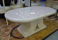 Стол из белого мрамора СЛЛМ - 33