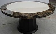 Круглый мраморный столик