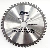 Пильный диск по алюминию и пластику FOW 210x30x48z