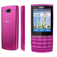 Корпус для Nokia X3-02, с клавиатурой, розовый, оригинал