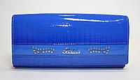 Женский лакированный кошелек BALISA синего цвета