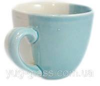 Чашка 220 мл «Одесса» двухцветная бело-голубая.