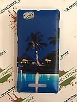 Чехол для Sony Xperia M C1905 (Пальмы)