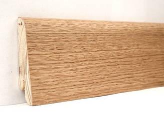 Плинтус деревянный шпонированный Дуб натуральный