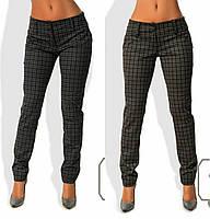 Модные женские брюки принт клетка / Украина / стрейч-шерсть