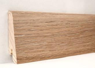 Плинтус деревянный шпонированный Дуб Патина