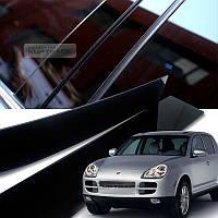 Porsche Cayenne 955 957 2003-10 черные глянцевые молдинги накладки на дверные стойки Новые