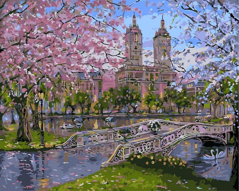 Рисование по номерам 40×50 см. Весна в парке Художник Роберт Файнэл