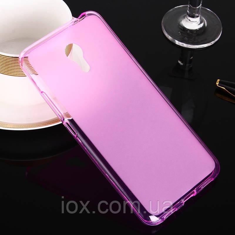 Прозрачно-матовый розовый силиконовый чехол-накладка для Meizu M3 Note