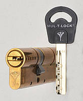 Цилиндр Mul-t-lock Classic 62мм (27х35) ключ-ключ латунь