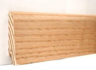 Плинтус деревянный шпонированный Ясень натуральный