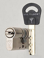 Цилиндр Mul-t-lock Classic 115мм (50х65) ключ-ключ никель-сатин