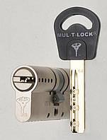 Цилиндр Mul-t-lock Classic 62мм (27х35) ключ-ключ никель-сатин