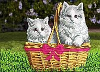 """Схема для вышивки бисером """" Котята """", А3"""