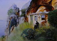 «Афонский старец» картина маслом