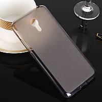 Прозрачно-матовый черный силиконовый чехол-накладка для Meizu M3 Note