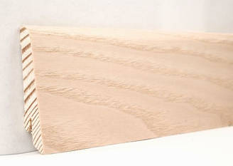 Плинтус деревянный шпонированный Ясень выбеленный