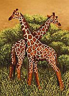 """Схема для вышивки бисером """"Жирафы"""", А3"""