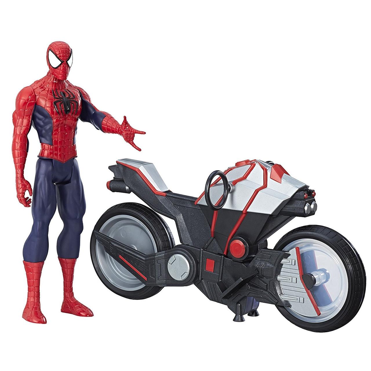 """Набор Человек Паук на мотоцикле, серия """"Titan Hero ..."""