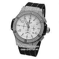 Часы Hublot Big Bang Diamonds Silver 2240 Quartz. Класс: AAA.