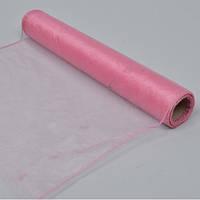 Органза рулонная розовая 40  см.