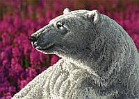 """Схема для вышивки бисером """"Белый медведь"""", А3"""