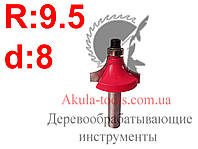 R9,5 d8 Фреза WoodMaster кромочная калевочная