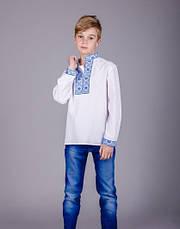Вышиванка с синей вышивкой на мальчика , фото 3