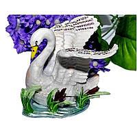 Шкатулка металич. Лебедь 1057-3