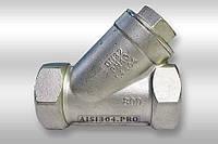 Фильтр угловой нержавеющий У-образный Dn 20 AISI 304