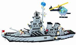 Конструктор Военный корабль Brick 112  Военно-морская серия, фото 2