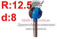 R12.5 d8 Фреза Karnasch  шаровая пазовая фреза