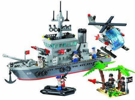 Конструктор Brick Enlighten Зона боевых действий/Морская серия 820 (Военный корабль - фрегат), фото 2