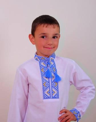 Вышиванка с сине-желтой вышивкой на мальчика , фото 2