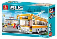 Конструктор Sluban Городская серия M38-B0332 Троллейбус/Автобус
