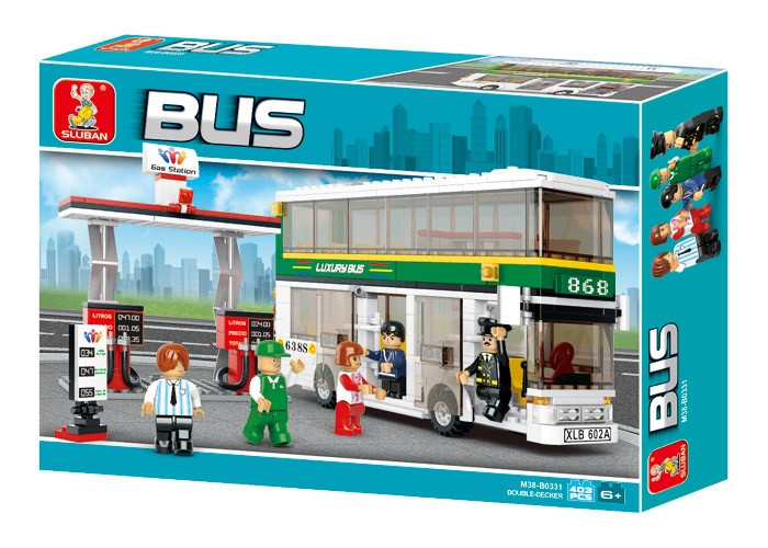 Конструктор Двухэтажный автобус Sluban  M38-B0331 Городская серия